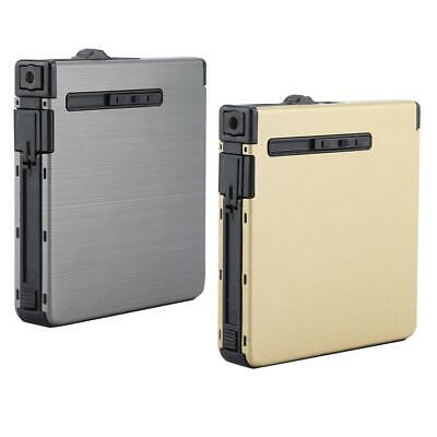 Inflatable Automatic Cigarette Storage Case Windproof Metal Lighter Without Gas
