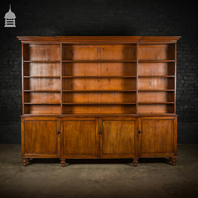 Large 19th C Mahogany Bookcase Display Unit with Cupboards