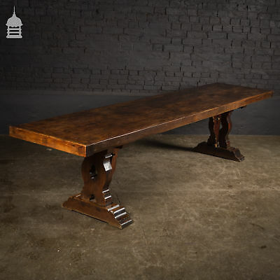 Victorian Single Plank Fruitwood Dining Banquet Refectory Table