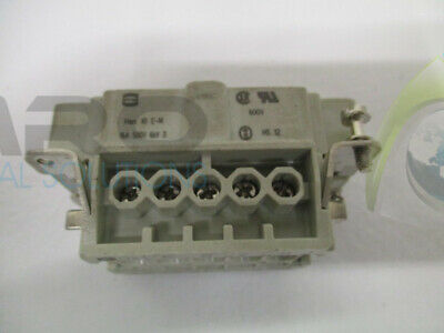HARTING Han 10 E-M MALE CONNECTOR *USED*