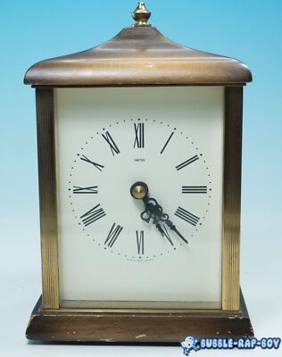 Vintage Smiths Mantle Clock Quartz Movement Desk Clock For Renovation