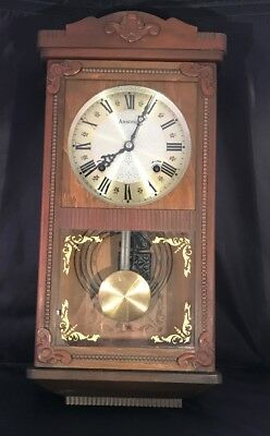 Vintage Ansonia 8-Day Westminister Chime Wall Clock