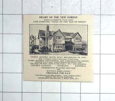 1935 New Forest Six Bed House Views Iow Freehold For Sale