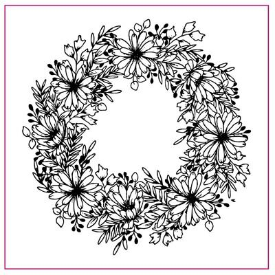 10*10cm Wreath Clear Stamps for DIY Scrapbooking Craft Decorative Silicone Stamp