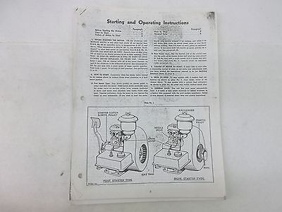 Briggs & Stratton Engine Starting & Operating Instructions
