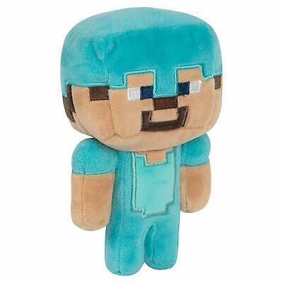 "Official J!NX Minecraft - Happy Explorer DIAMOND STEVE - 7"" Plush"