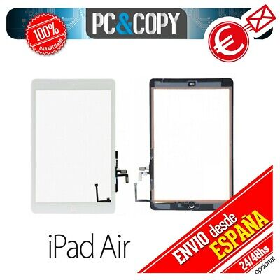 R236 PANTALLA TACTIL IPAD AIR BLANCA TOUCH SCREEN iPadAir + ADHESIVO Y BOTON HOM