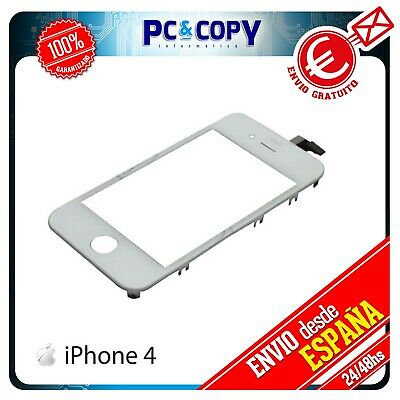 R195 Pantalla Tactil Para Iphone 4 4G Marco Cristal Touch Screen Blanco Nueva A+