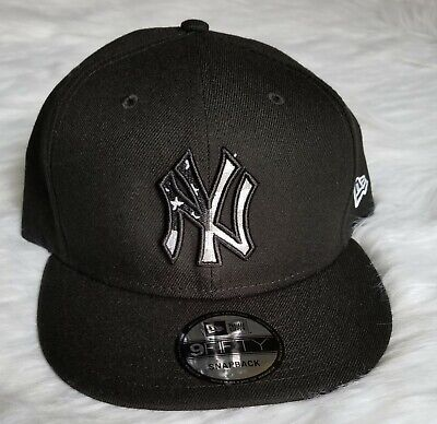 feaab377f82d3 New York Yankees New Era 9FIFTY Snap-back Black Hat Cap American Flag USA  MLB