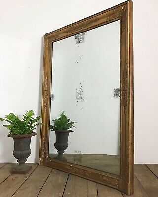 Stunning 19th Century Antique French Empire Foxed Overmantle Mirror