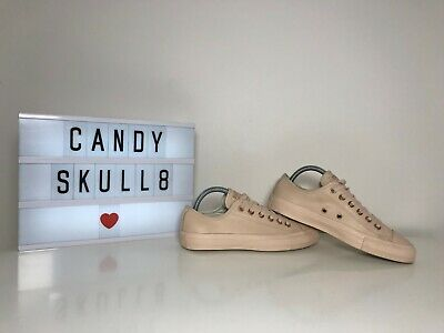 75c4b8dc485b Converse All Star Low Top Pastel Leather Rose Gold Glitter Trainers Shoes  Uk 5