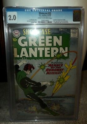 DC Comics GREEN LANTERN Showcase 22 1959 1st green silver age cgc 2.0