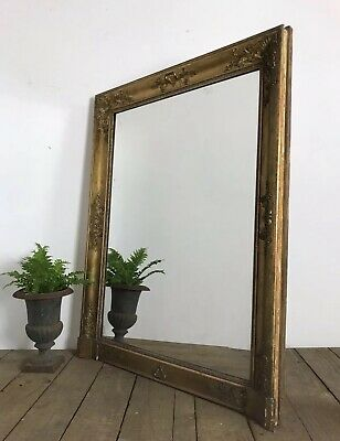 Stunning 19th Century Antique French Gold Gilt Overmantle Mirror
