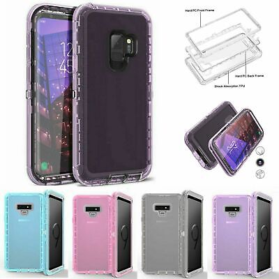 Shockproof Clear Armor Heavy Duty Case For Samsung Galaxy Note 10 9 8 S9 S8 S7