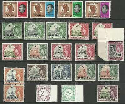 Lesotho - Selection of early mint issues - UM/VLMM