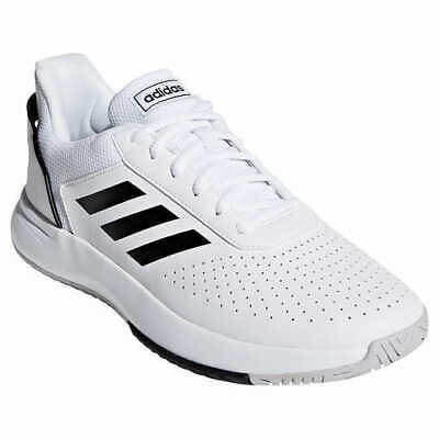 Adidas Men's Court Shoes - WHITE (Select Size) * FAST SHIPPING *