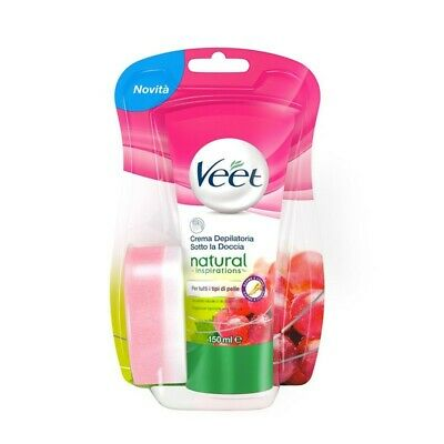 VEET natural inspirations crema depilatoria sotto la doccia 150 ml