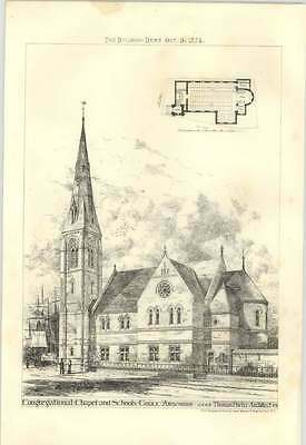 1874 Congregational Chapel And Schools, Goole, Yorkshire