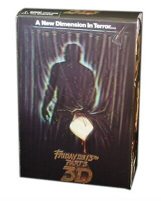 NECA, Friday The 13th Part3 3D, Jason Action Figure, 7 Inch, New and Sealed