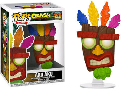 Crash Bandicoot Aku Aku POP Games #420 Vinyl Figure FUNKO