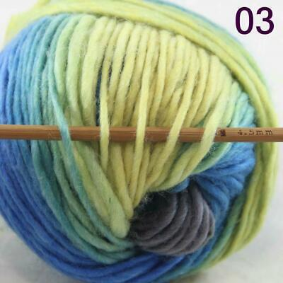 Sale 1 Ball x50g New Knitting Yarn Chunky  Colorful Hand Wool Wrap Scarves 03