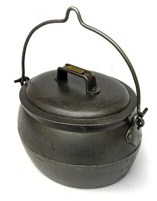 Cast Iron Gypsy Pot Belly Cooking Pot 1 Gallon