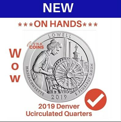 2019 D-LOWELL NATIONAL HISTORICAL PARK - QUARTERS 1-Coin Uncirculated on Hands!!