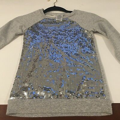 Unknown brand Girls long sleeve round neck top with sequence on front side,6(6X)
