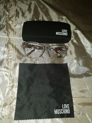 LOVE MOSCHINO occhiali eyeglasses boxed custodia e pezzolina ML026V02 -140 57#16
