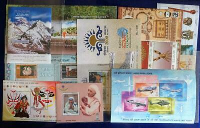 India Lot Of 190 Diff Miniature Sheets (M/S) From 1989-2019 As Per Description
