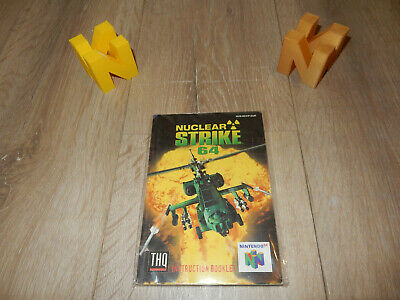 PAL N64: Nuclear Strike Manual Only NO GAME Nintendo 64