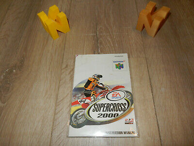 PAL N64: Supercross 2000 Manual Only NO GAME Nintendo 64