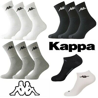 Kappa Men's Sports & Trainer Socks 3 Pack Set Various Colours White Black Grey