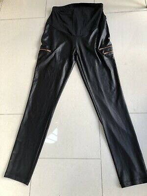 ASOS Maternity Wet Look/Faux Leather Leggings Size 10