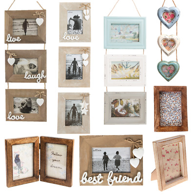 Natural Wood Single Double Triple Photo Picture Frames Home Gifts Decorations 4 25 Picclick Uk