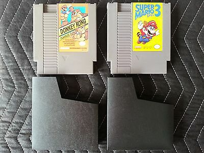 Nintendo (Nes) Authentic 2 Game Lot - Donkey Kong Classics & Super Mario Bros. 3