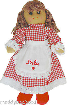 Personalised Vintage Red Riding Hood Rag Doll 40cm Toy Baby Xmas Gift Girls