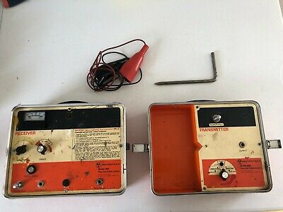 Metrotech 480 Pipe & Cable Locator  transmitter receiver and leads