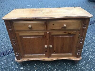 Pine Ornate Dresser Base