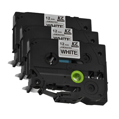 3pcs TZ231 TZe-231 12mm x 8m Label Tape Compatible with Brother P-Touch HS1165