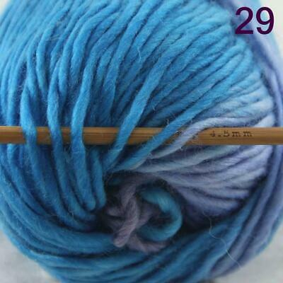 Sale 1 Ball x50g New Knitting Yarn Chunky  Colorful Hand Wool Wrap Scarves 29