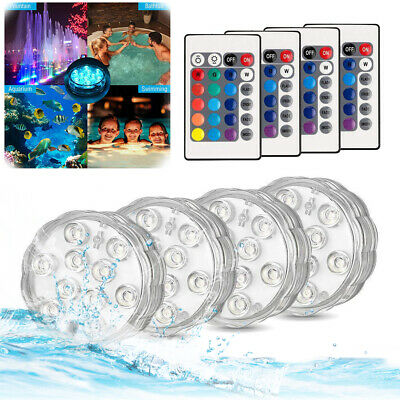 Control RGB Color Changing Underwater Pond Mood LED Lights For Lay Z Spa Pool