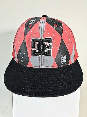 DC Shoes Mens Argyle Red 210 Fitted Flexfit Wool Blend Baseball Cap