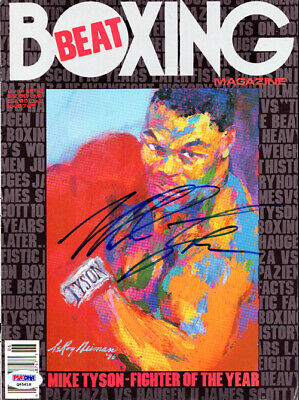 Mike Tyson Autographed Signed Boxing Beat Magazine Cover Vintage PSA/DNA #Q65618