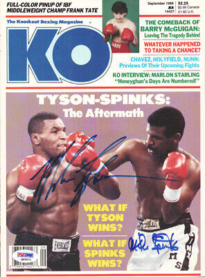 Mike Tyson Autographed Signed KO Boxing Magazine Cover Vintage PSA/DNA #Q65671