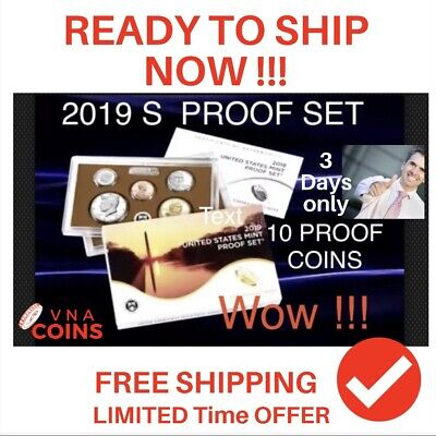 *** 2019  US Mint Clad PROOF SET 10 Coins ~ Certificate of Authenticity In HANDS