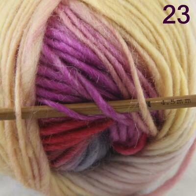 Sale 1 Ball x50g New Knitting Yarn Chunky  Colorful Hand Wool Wrap Scarves 23