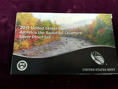 2013 United States Mint America the Beautiful Quarters Silver Proof Set
