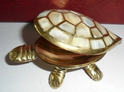 Rare Brass Handcrafted Trinket Box Home Decor Gifts Ashtray Lucky Figurine Art