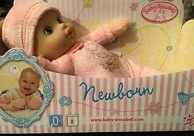 BNIB Zapf Creation My First Baby Annabell Newborn Suitable 0+